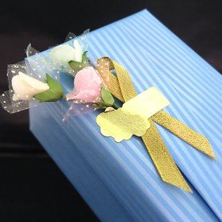 ワンポイント花飾り