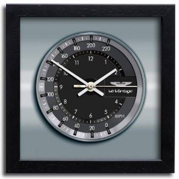 アストンマーチン ヴァンテージ V12 クラッシック クロノ スピードメーター アート プリント クロック 時計
