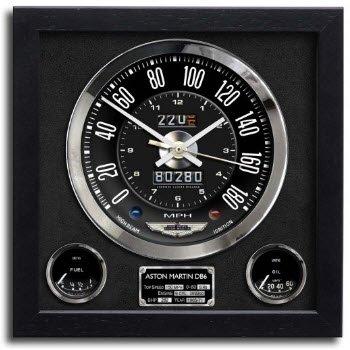 アストンマーチン DB6 クラッシック クロノ スピードメーター アート プリント クロック 時計