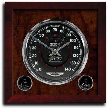 アストンマーチン クラッシック クロノ スピードメーター アート プリント クロック 時計