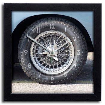 アストンマーチン タイヤ ホイール クロノ スピードメーター アート プリント クロック 時計