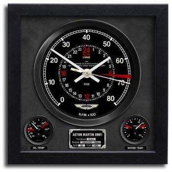 アストンマーチン DBR1 ル・マン 24H 1959 クロノ スピードメーター アート プリント クロック 時計