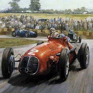 モータースポーツ アート マセラティ Grand Epreuve by Alan Fearnley