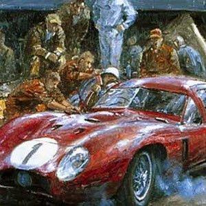 モータースポーツ アート マセラティ Maserati 450S by Alan Fearnley
