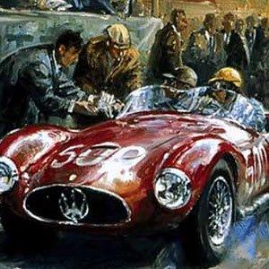 モータースポーツ アート マセラティ Maserati A6GCS by Alan Fearnley