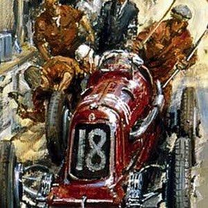 モータースポーツ アート マセラティ Maserati 8CM by Alan Fearnley