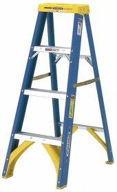 電工用脚立 FRP製 片側昇降式専用脚立GLA-120BU 天板高さ1.16m 絶縁性に優れています ピカ