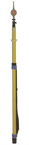 風車式検電器 伸縮式5m 使用電圧6-33kv 緑色枠風車 電気絶縁操作棒 FK-33T