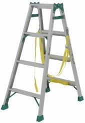 昇柱用はしご兼用脚立 JOB-BGA120E  天板1.10m はしご2.34m はしご時に電柱昇降に適したポールグリップと巻付ベルト付 …