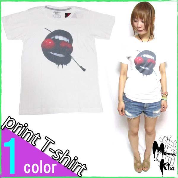 Tシャツ【DRAW UNCUT】ホラー リップTシャツ