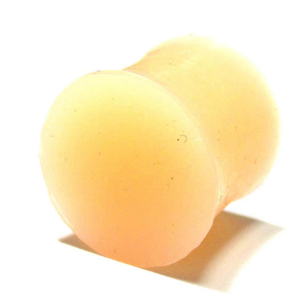 ボディピアス スキンカラー(肌色) シリコン ダブルフレアプラグ【12.0mm/1個】 BPPL-03-12mm