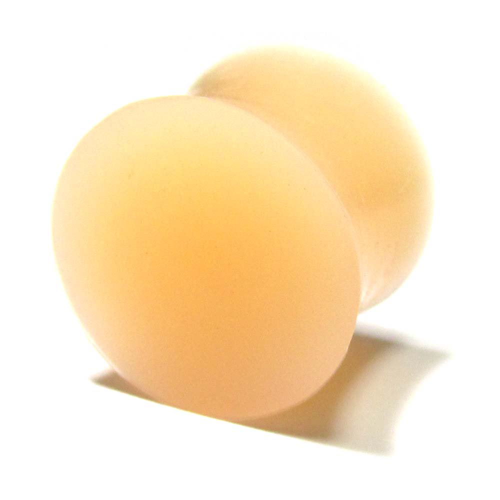 ボディピアス スキンカラー(肌色) シリコン ダブルフレアプラグ【14.0mm/1個】 BPPL-03-14mm