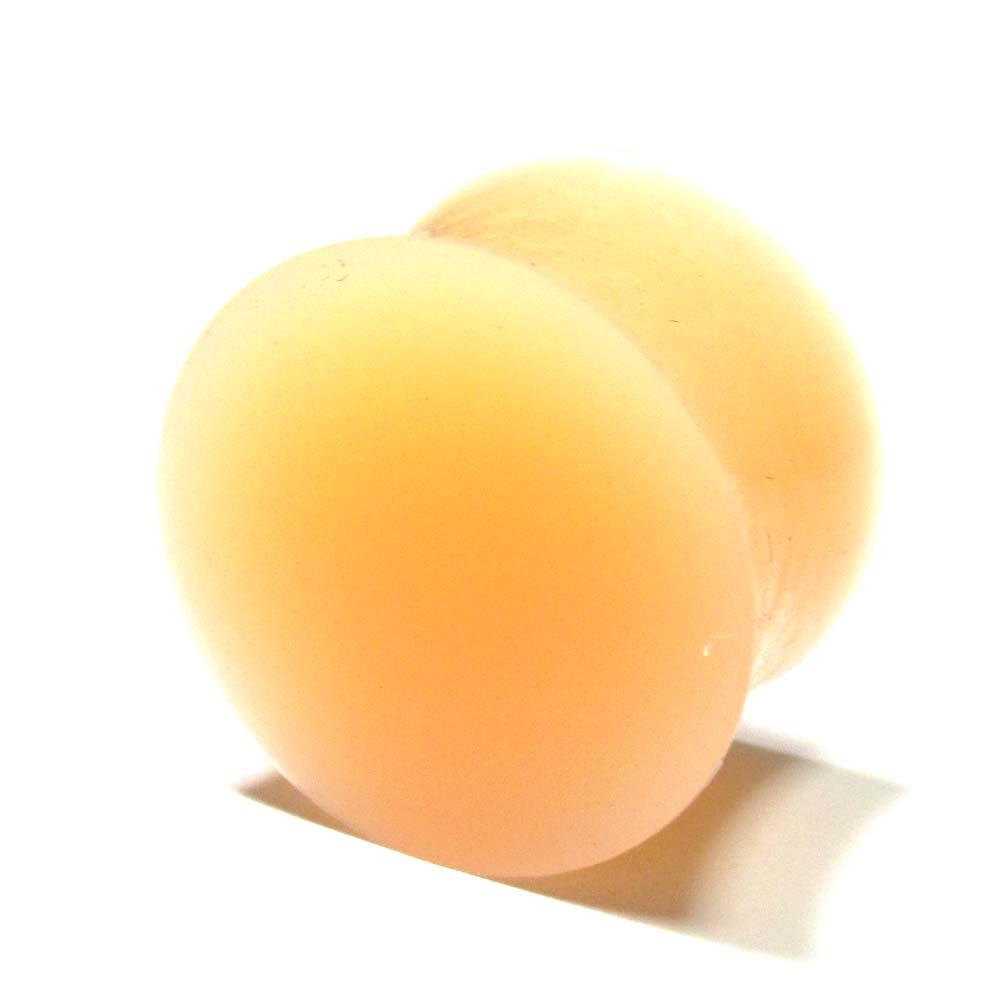 ボディピアス スキンカラー(肌色) シリコン ダブルフレアプラグ【18.0mm/1個】 BPPL-03-18mm