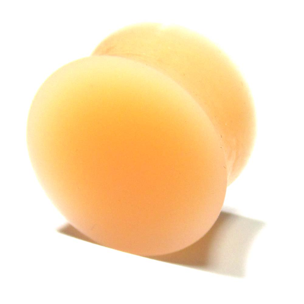 ボディピアス スキンカラー(肌色) シリコン ダブルフレアプラグ【20.0mm/1個】 BPPL-03-20mm