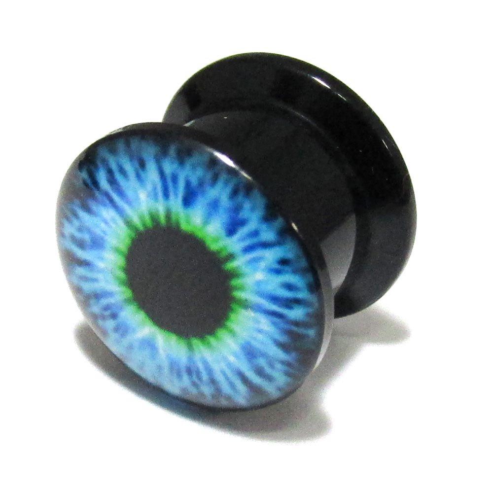 ボディピアス 青い目玉 アクリル インターナリースレッド プラグ【12.0mm/1個】 BPPL-05-12mm