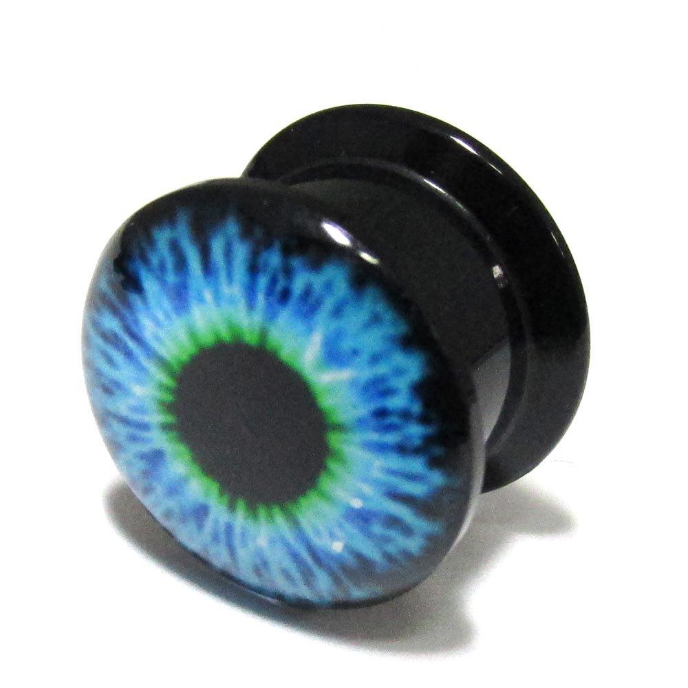 ボディピアス 青い目玉 アクリル インターナリースレッド プラグ【14.0mm/1個】 BPPL-05-14mm