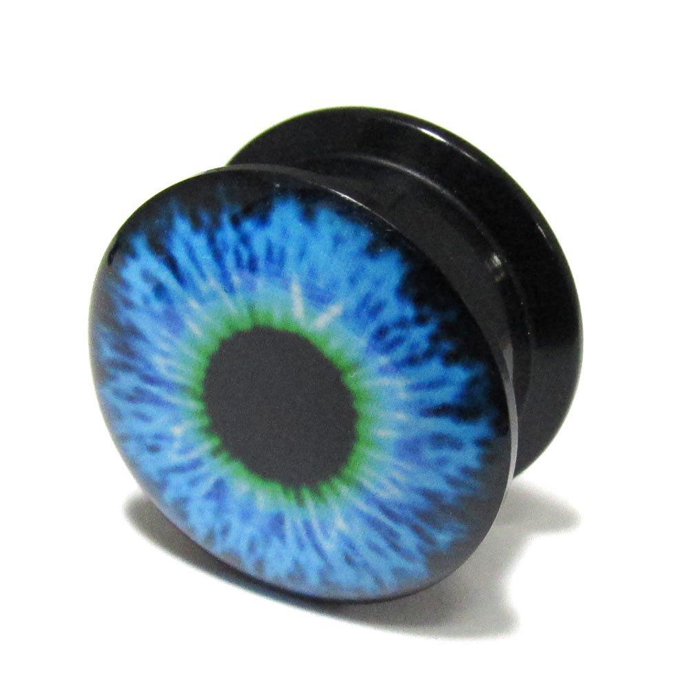 ボディピアス 青い目玉 アクリル インターナリースレッド プラグ【18.0mm/1個】 BPPL-05-18mm
