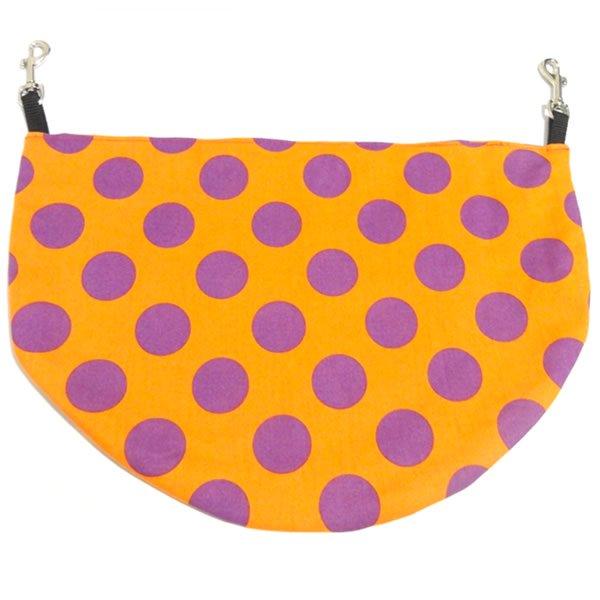 ポップカラードットバムフラップ オレンジ