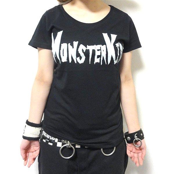 【首周り広め】MONSTER KIDS(モンスターキッズ)ロゴ Tシャツ