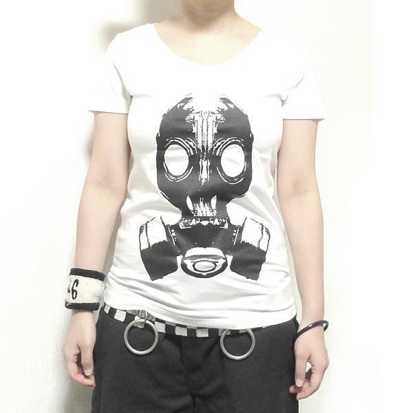 【首周り広め】フェティッシュガスマスク Tシャツ