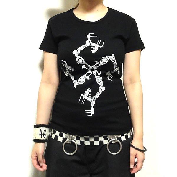 【女性らしいAライン】クリーチャー卍ライン Tシャツ