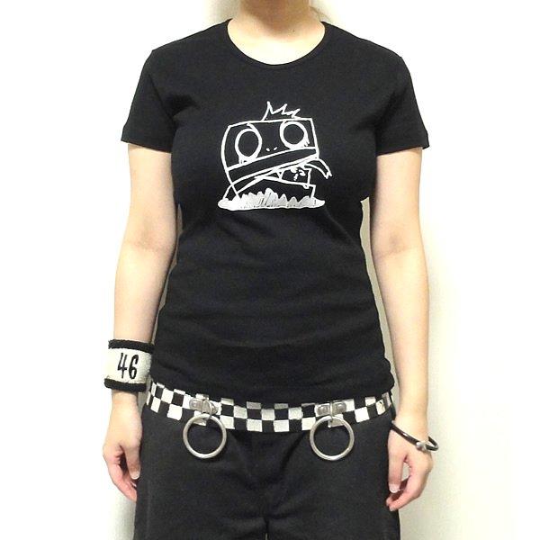 【女性らしいAライン】つとむフェイスロボ Tシャツ