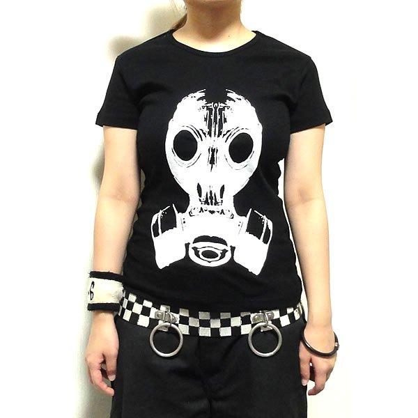 【女性らしいAライン】フェティッシュガスマスク Tシャツ