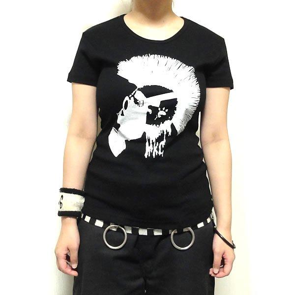 【女性らしいAライン】スパイキーモヒカンガスマスク Tシャツ
