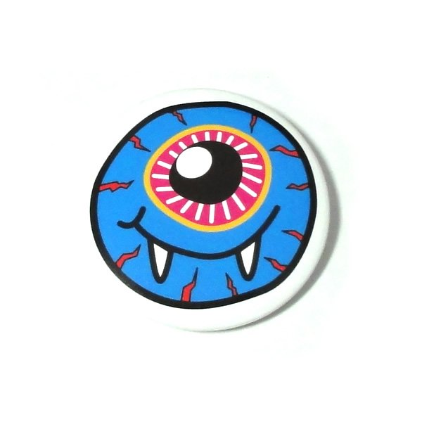 目玉モンスター缶バッジ【ブルー/30mm/1個】