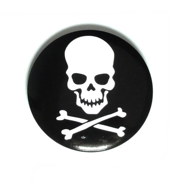 クロスボーンスカル缶バッジ  【45mm/1個】