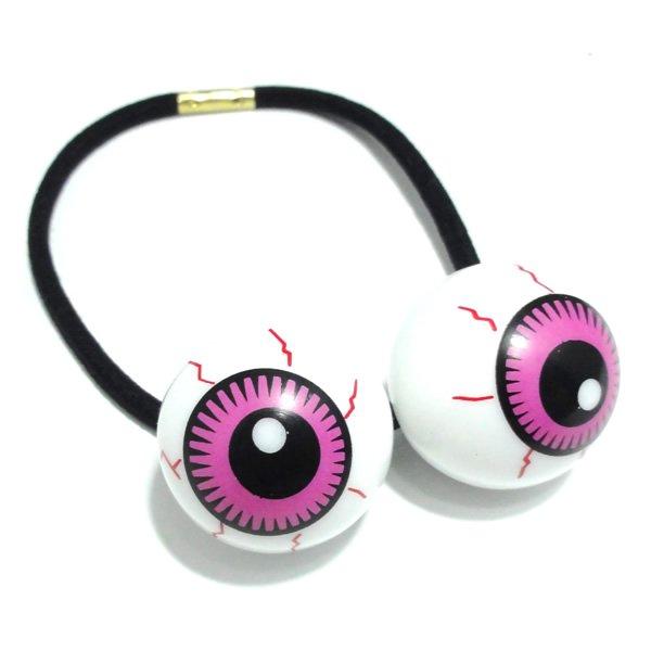 ダブル目玉のヘアゴム【ピンク】
