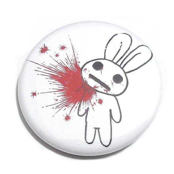 MONSTER KIDS缶バッジ 【SUPER GOREかすれ耳うさぎ 赤い血しぶき/32mm/1個】
