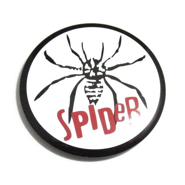 スパイダー(毒蜘蛛)缶バッジ 【45mm/1個】
