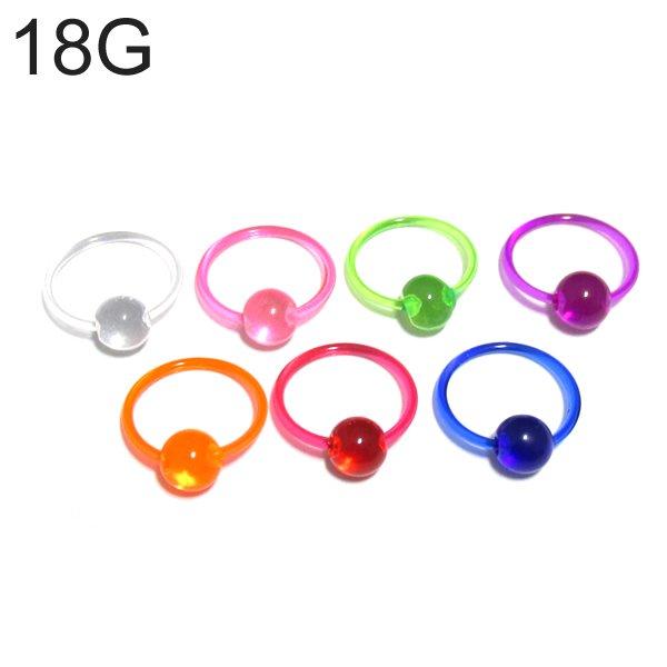 UVアクリル カラービーズリング 【18G(1.0mm)/内径10mm】