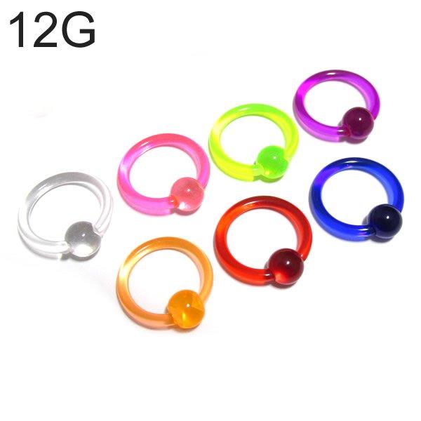 UVアクリル カラービーズリング 【12G(2.0mm)/内径12mm】