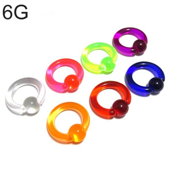 UVアクリル カラービーズリング 【6G(4.0mm)/内径14mm】