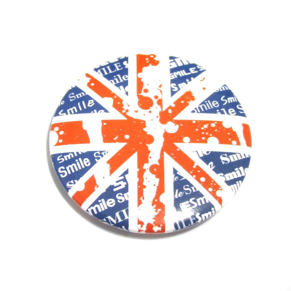 インク飛び散りユニオンジャック(イギリス国旗)缶バッジ 【30mm/1個】