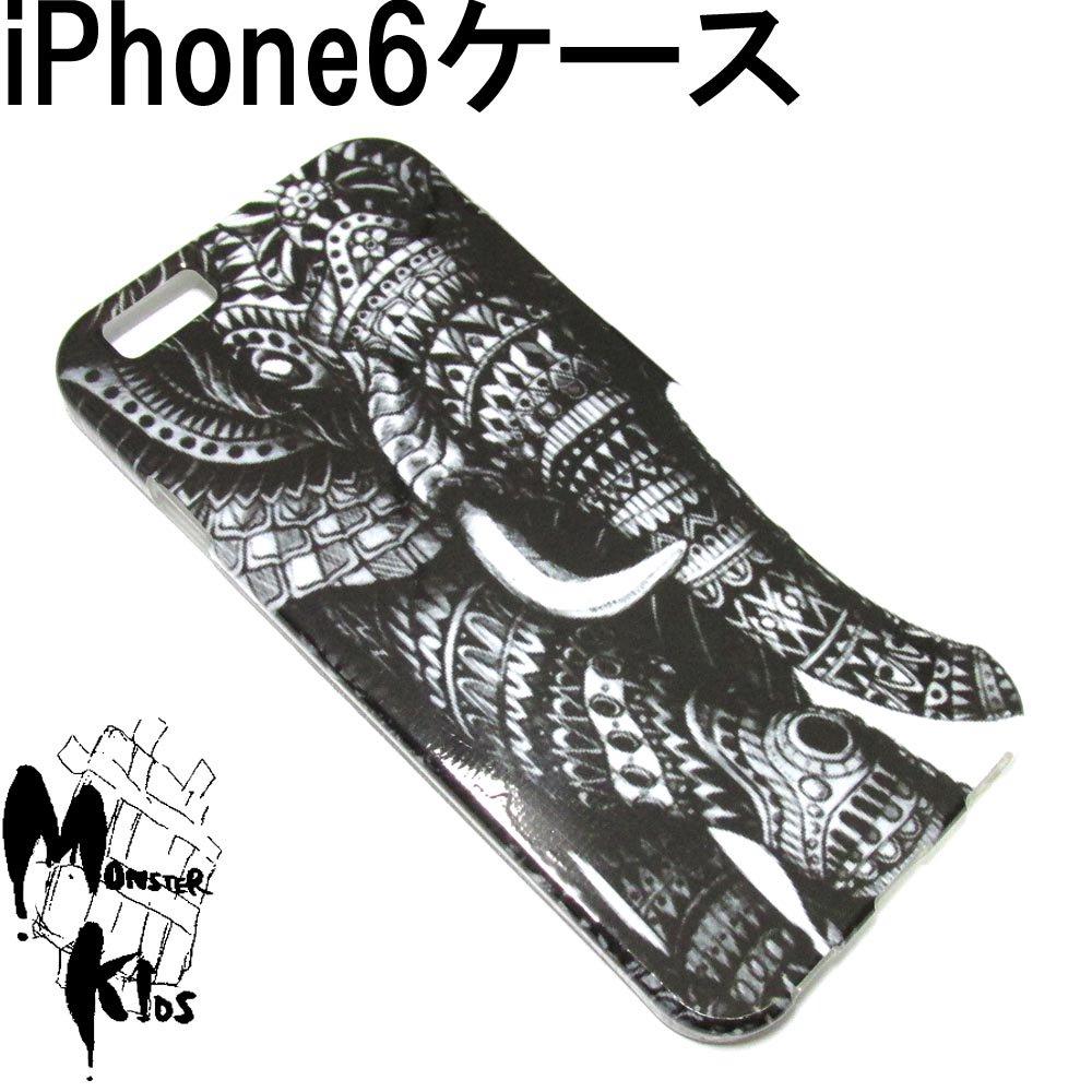 エスニックデザインエレファント(象)デザイン TPUスマートフォンケース i phone 6用 【1ヶ売り】