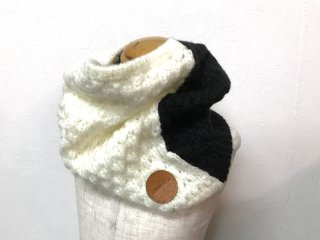 <10月下旬入荷予定>mohea KNIT SNOODE (IVORY/BLACK)