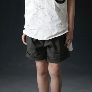 arkakama BASIC : Twill Sarouel Shorts ( CHARCOAL  )