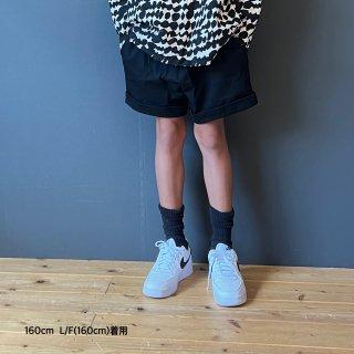 Twill Sarouel Shorts ( BLACK  )