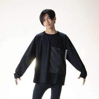 <img class='new_mark_img1' src='https://img.shop-pro.jp/img/new/icons14.gif' style='border:none;display:inline;margin:0px;padding:0px;width:auto;' />TuNO 21SS : POCKET L/S Tee (BLACK)