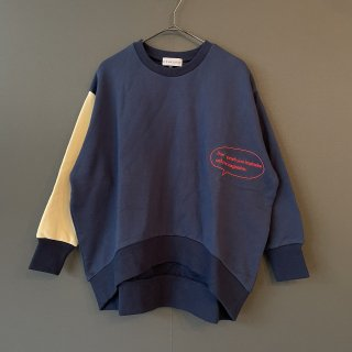 <img class='new_mark_img1' src='https://img.shop-pro.jp/img/new/icons14.gif' style='border:none;display:inline;margin:0px;padding:0px;width:auto;' />arkakama 21AW / 2COLOR ROUND Sweatshirt  (NAVY/IVORY)