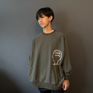 <img class='new_mark_img1' src='https://img.shop-pro.jp/img/new/icons14.gif' style='border:none;display:inline;margin:0px;padding:0px;width:auto;' />TuNO 21AW  : Overe Think Raglan BIG  SW (KHAKI CHARCOAL)