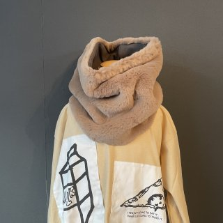 【webstore ONLY】 21AW arkakama / NO real  FAR SNOODE ( LIGHT BEIGE )