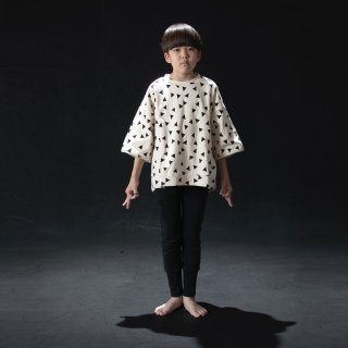 arkakama BASIC  :  SPD M/S sweatshirt (▲IVORY x BLACK)