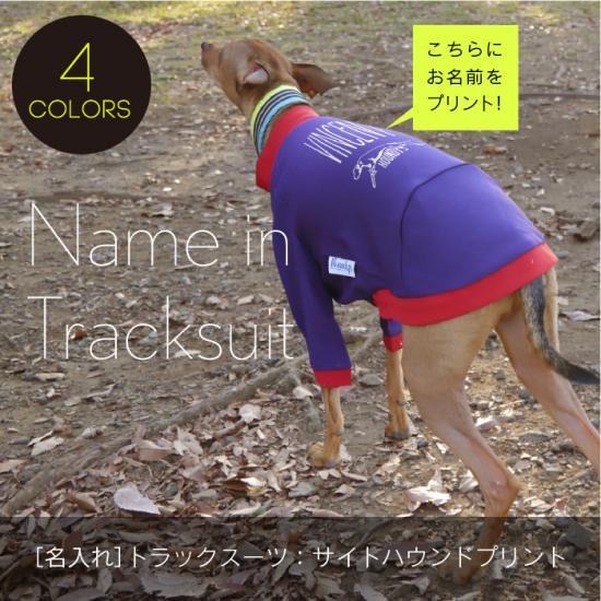 名入れ/サイトハウンド プリント トラックスーツ (イタリアングレーハウンド 犬服)/メール便OK