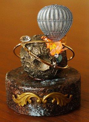 模造満月灯(金)-気球-