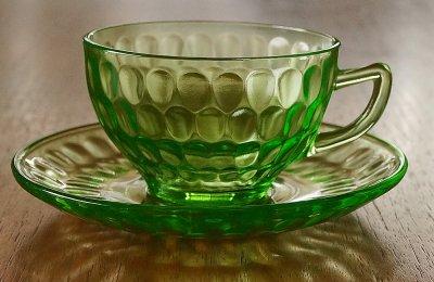 ウランガラス/カップ&ソーサー