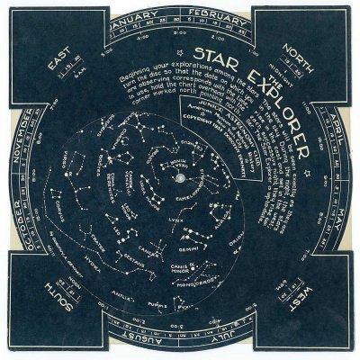 星座早見盤/The Star Explorer JUNIOR ASTRONOMY CLUB アメリカ自然史博物館